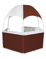Portable Burgundy/White Dome Kiosk
