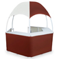 Burgundy/White Dome Kiosk with Hexagon Shape