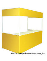 8'w Portable Exhibit Booth with Rectangular Shape