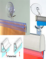 Use this hanging hardware to hang smaller banners and signs from a ceiling.