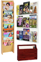 hanging magazine racks