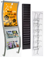 Wall Magazine Racks Hanging Literature Displays