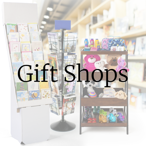 Hospital office signs and supplies for retail gift shop merchandising