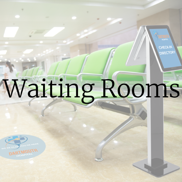 Hospital office signs and supplies for waiting rooms and lobbies