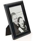 "Black Wood Photo Frame for 4"" x 6"" Pictures"