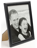 Black Wood Picture Frame for Tabletop or Wall Mount Use