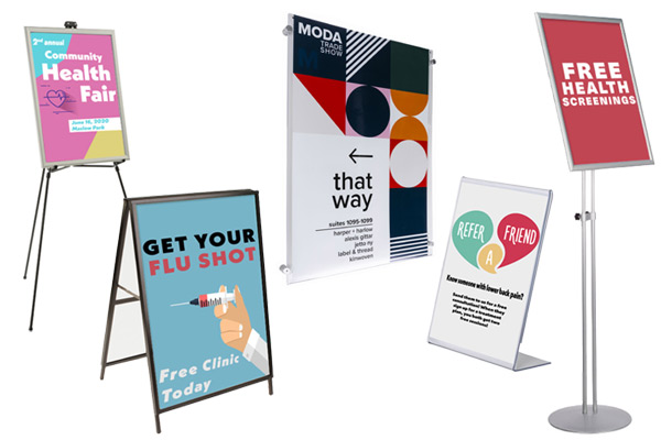Affordable sign holders for medical buildings