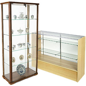 Hospital gift shop retail fixtures like display cases are great for featuring presents for patients and visitors