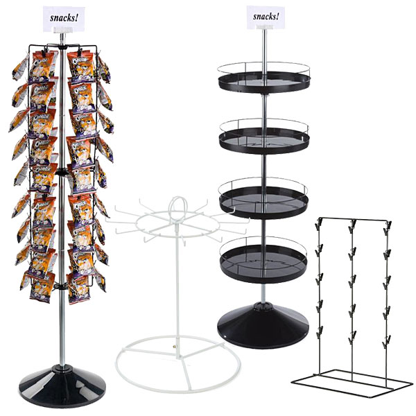 Use snack racks as hospital gift shop retail fixtures to offer small food items as well as cheerful keepsakes