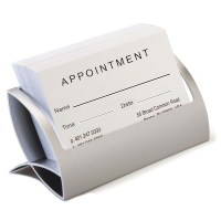 Medical office reception card holders for appointment reminders