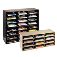 Medical office reception file holders for desks and countertops