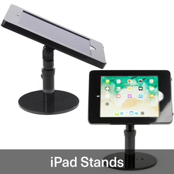 Medical office reception tablet holders for iPads and Android devices