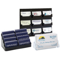 Medical office reception business card displays for one doctor or an entire building