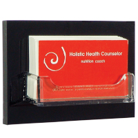 Medical office reception contact card holders save countertop space