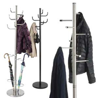 Doctors office waiting room coat racks for patients and staff