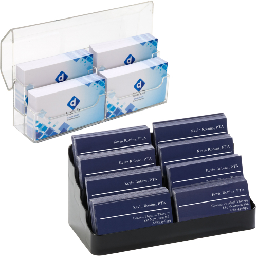 Medical office reception business card holders