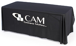 one color custom printed table cover