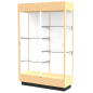 tower display cabinet wood cases