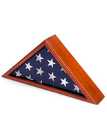 Pine Wood Funeral Flag Display Case
