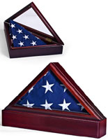 Wooden Flag Case