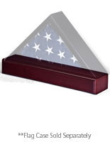 cherry flag case pedestals