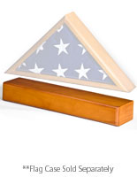 oak flag case pedestals