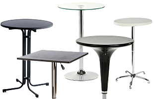 Portable Highboy Cocktail Tables