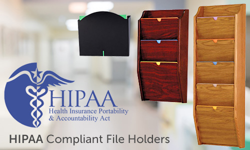 HIPAA compliant wall mount file holders