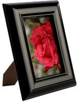 "4"" x 6"" Shiny Black Picture Frame"