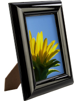 "5"" x 7"" Shiny Black Picture Frame"