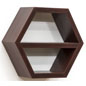"14"" Wide Wood Hexagon Shelf"
