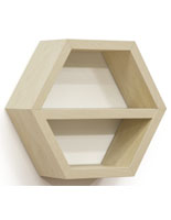 Maple Hexagonal Shelving