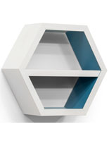 White Hexagon Shelf Display