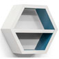 Particle Board White Hexagon Shelf