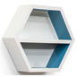 Floating Hexagonal Shelving Unit