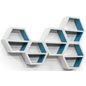 Retail Floating Hexagonal Shelves