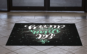 Holiday floor decal