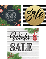 Holiday Graphic Floor Decals