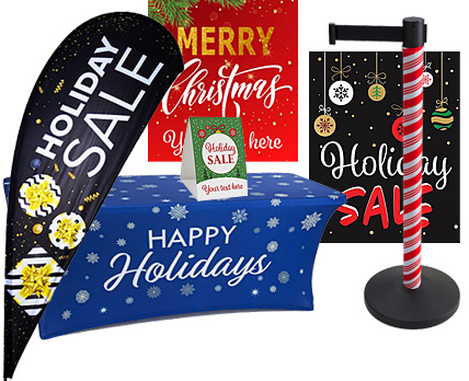 Get Your Store Ready for the Holidays with Stock Marketing Displays with Seasonal Christmas Themes