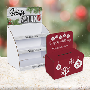 Decorated Holiday Displays with Custom Printing