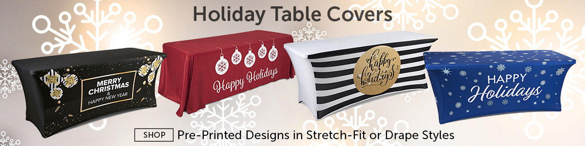 Trade Show Table Covers Plain Custom Printed Tablecloths