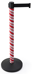 Holiday themed stanchion post wrap