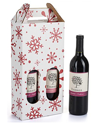 Pre-Printed Holiday Wine Carriers for Office Give-Aways