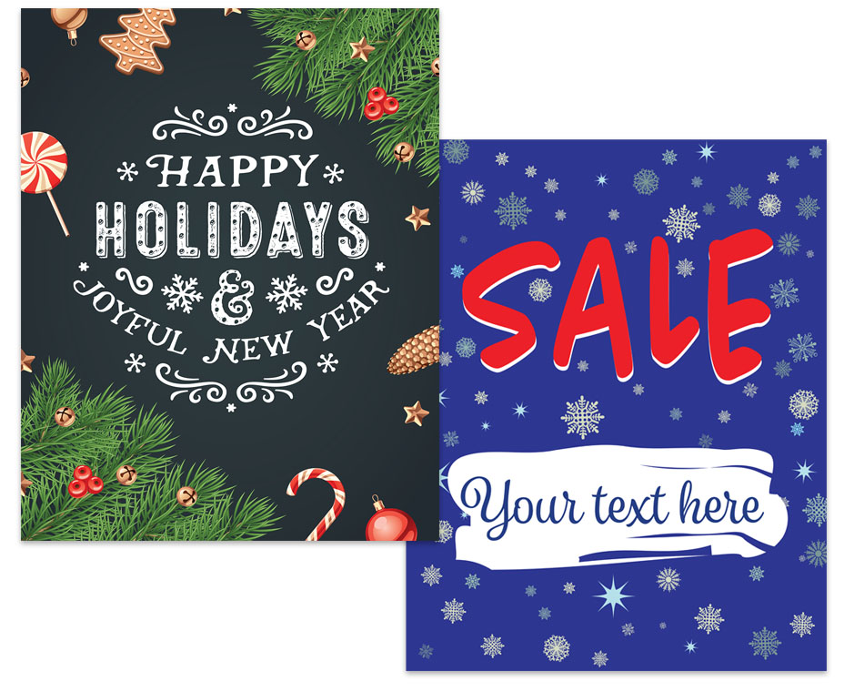 holiday advertising posters