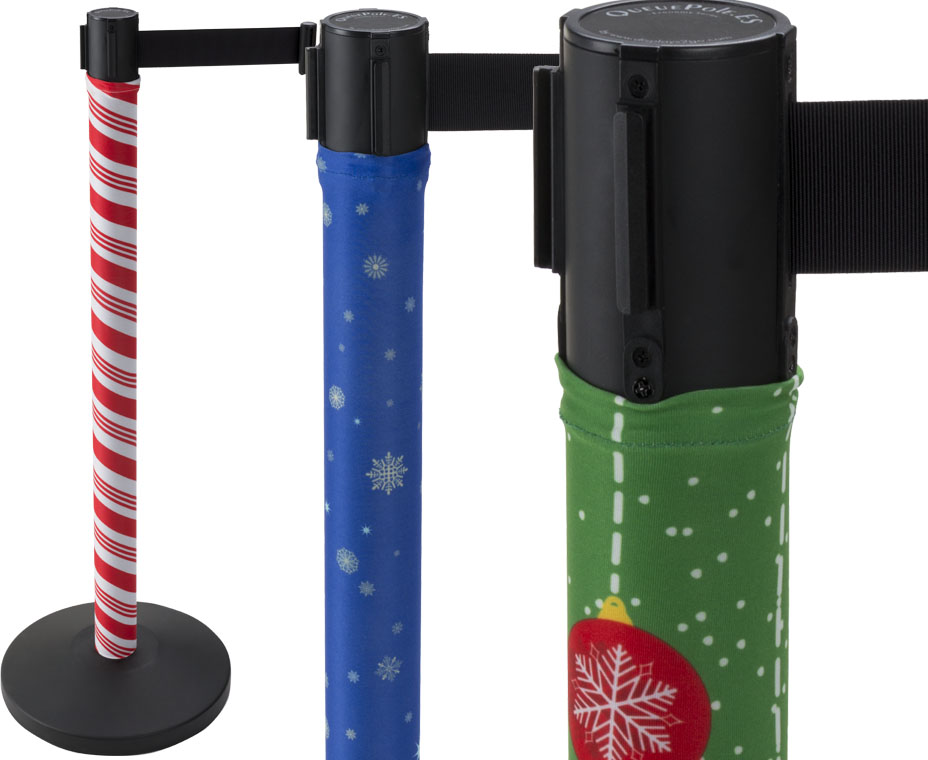 holiday stanchion covers