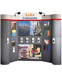 Hook and loop trade show booth display walls