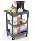 Janitorial carts are completely mobile