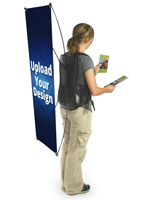 Promotional Backpack Billboard with Custom Banner