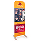 24 inch x 78.75 inch hand sanitization banner floor stand comes with custom graphics