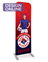 24 inch x 78.75 inch personalized slip top banner stand with polyester fabric